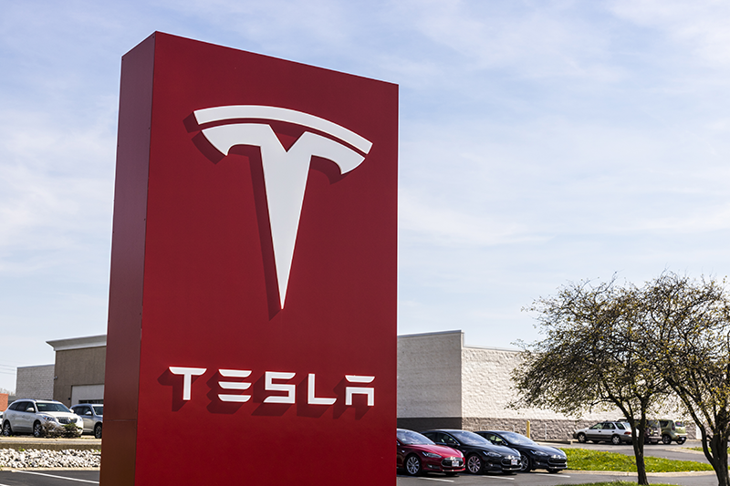 Indianapolis, Indiana - APRIL 2017: Tesla Service Center. (By Jonathan Weiss)